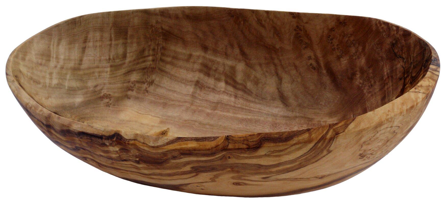 Olive Wood Natural Form Appetizer Bowl