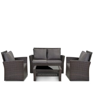 Toran 4 Seater Rattan Sofa Set By Sol 72 Outdoor