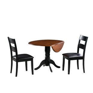 August Grove Adler 3 Piece Drop Leaf Dining Set