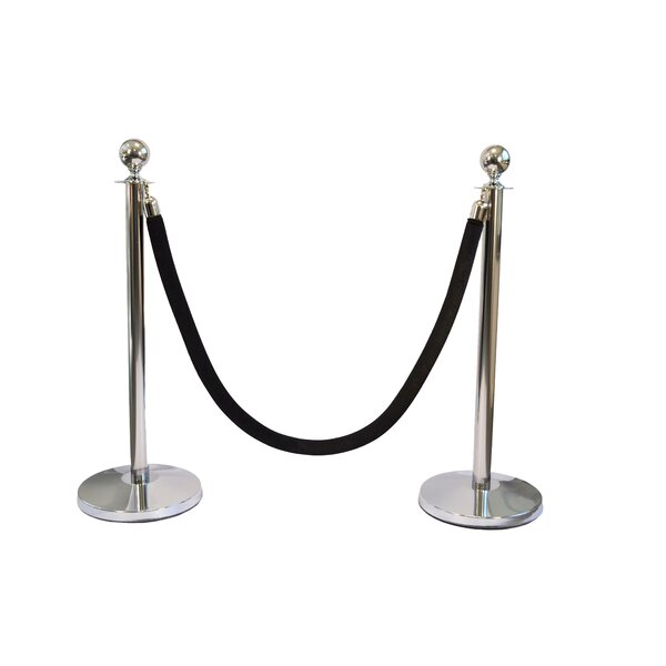 Queue Way Plus Classic Sphere Stanchions Kit Wayfair Ca