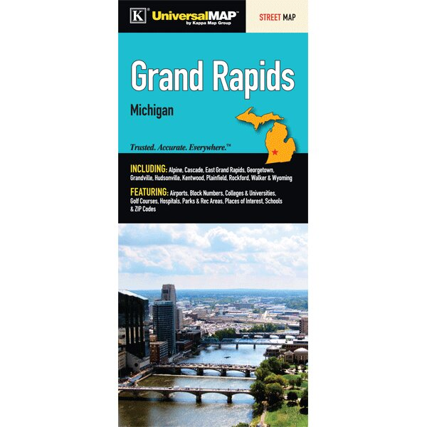 Universal Map Grand Rapids Fold Map Wayfair