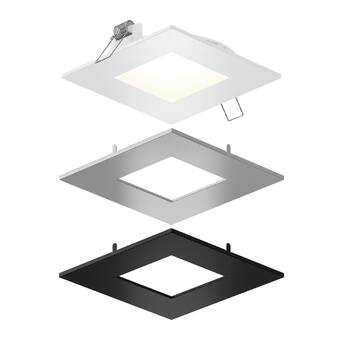 Symple Stuff Adison Square Downlight Led Slim Profiles Recessed Lighting Kit Wayfair