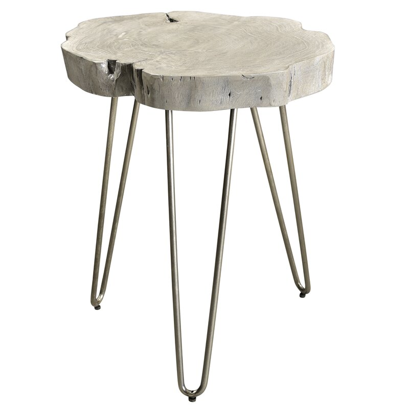 wood and wrought iron end tables metal frame burch acacia wood and wrought iron end table union rustic wayfair