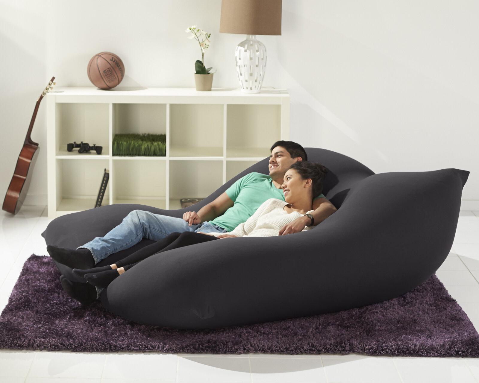 Double Bean Bag Sofa Reviews Wayfair Ca