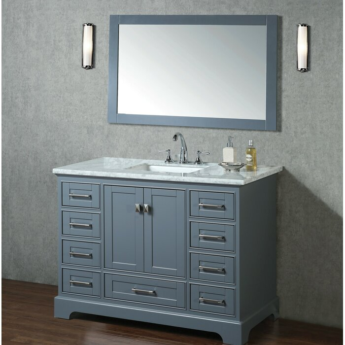 Awesome Stian 48 Single Sink Bathroom Vanity Set With Mirror Download Free Architecture Designs Scobabritishbridgeorg