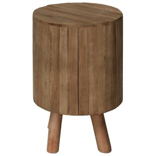 Peabody Round Drum Wood End Table