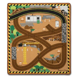 Check Prices 4 Piece Round the Site Construction Truck Playmat Set ByMelissa & Doug
