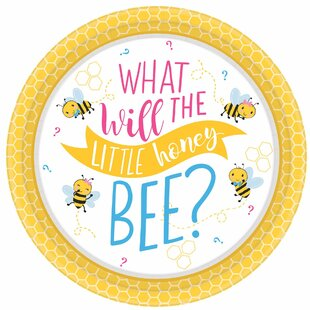 What Will it Bee? Baby Shower Paper Disposable Appetizer Plate (Set of 48)