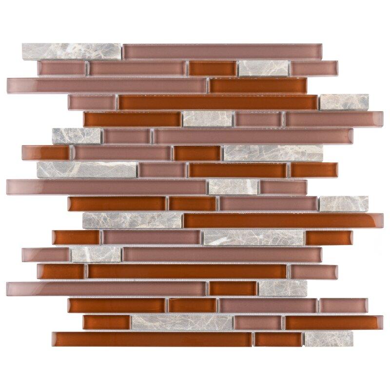 Elitetile Sierra Glass Linear Mosaic Tile Reviews Wayfair