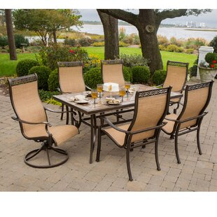 Carlee 7 Piece Oil Rubbed Bronze Dining Set