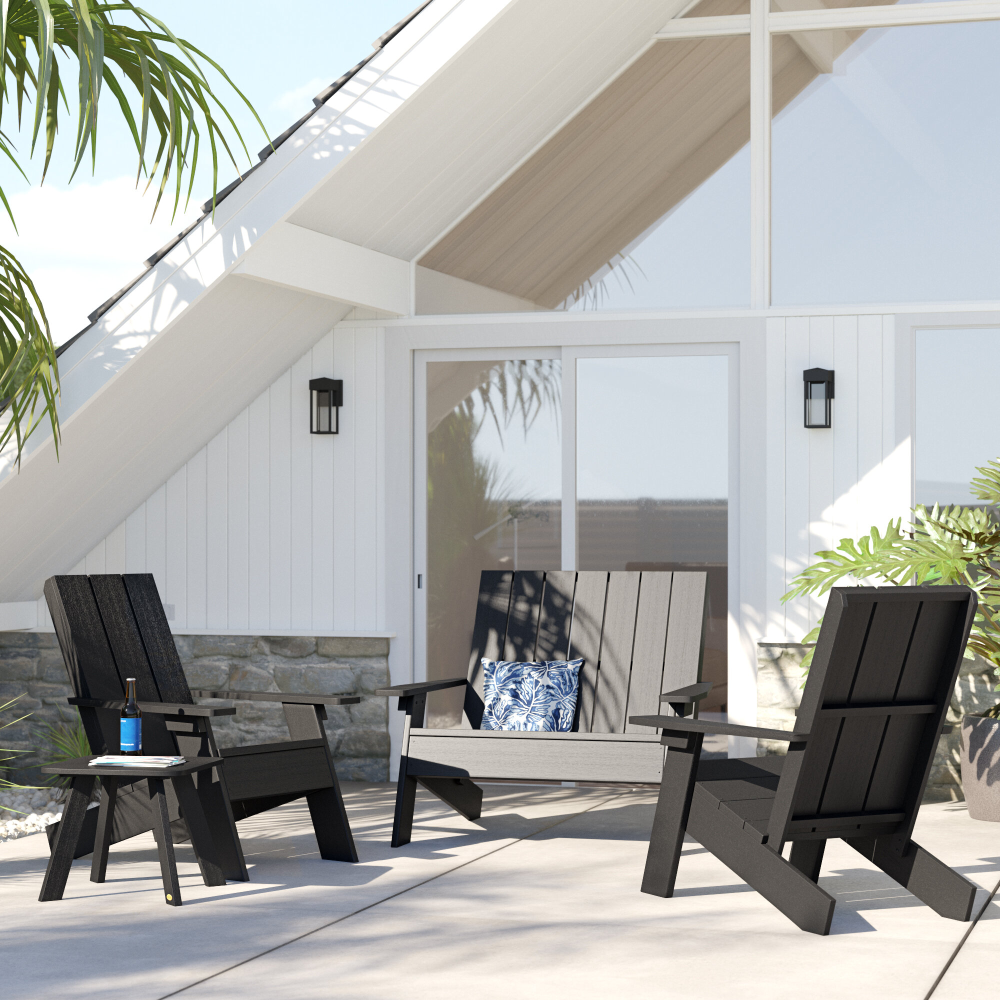 Picture of: Braintree Adirondack Chair With Table Reviews Allmodern