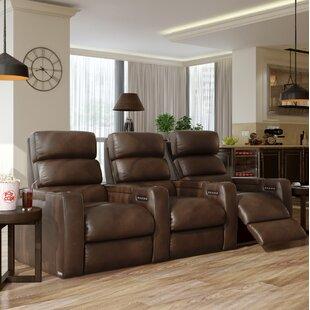 Power Leather Home Theater Sofa ByOrren Ellis
