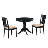 Chesterton 3 Piece Drop Leaf Solid Wood Dining Set by Alcott Hill®