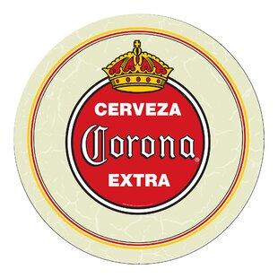 Trademark Global Corona Vintage Swivel Bar Stool