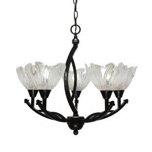 Fleur De Lis Living Blankenship 5-Light Shaded Chandelier