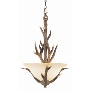 Deer antler pendant light wayfair burswood pendant in replica deer antler aloadofball Choice Image
