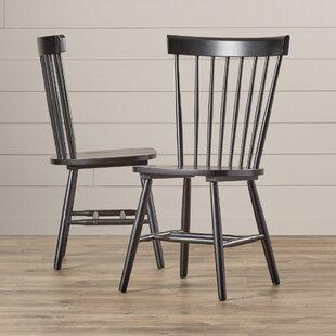 Brixton Slat Back Side Chair in Black Set of 2