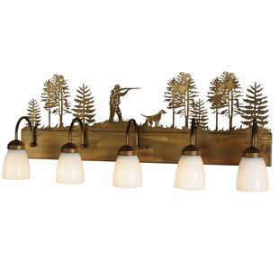 Meyda Tiffany Quail Hunter with Dog 5-Light Vanity Light