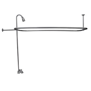 Double Handle Wall Mounted Clawfoot Tub Faucet ByBarclay
