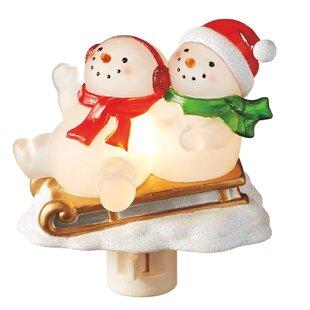 The Holiday Aisle Snowmen on Sleigh Night Light