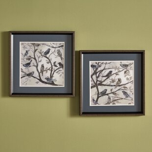 dab46f049453  Morning Song  2 Piece Framed Painting Print Set