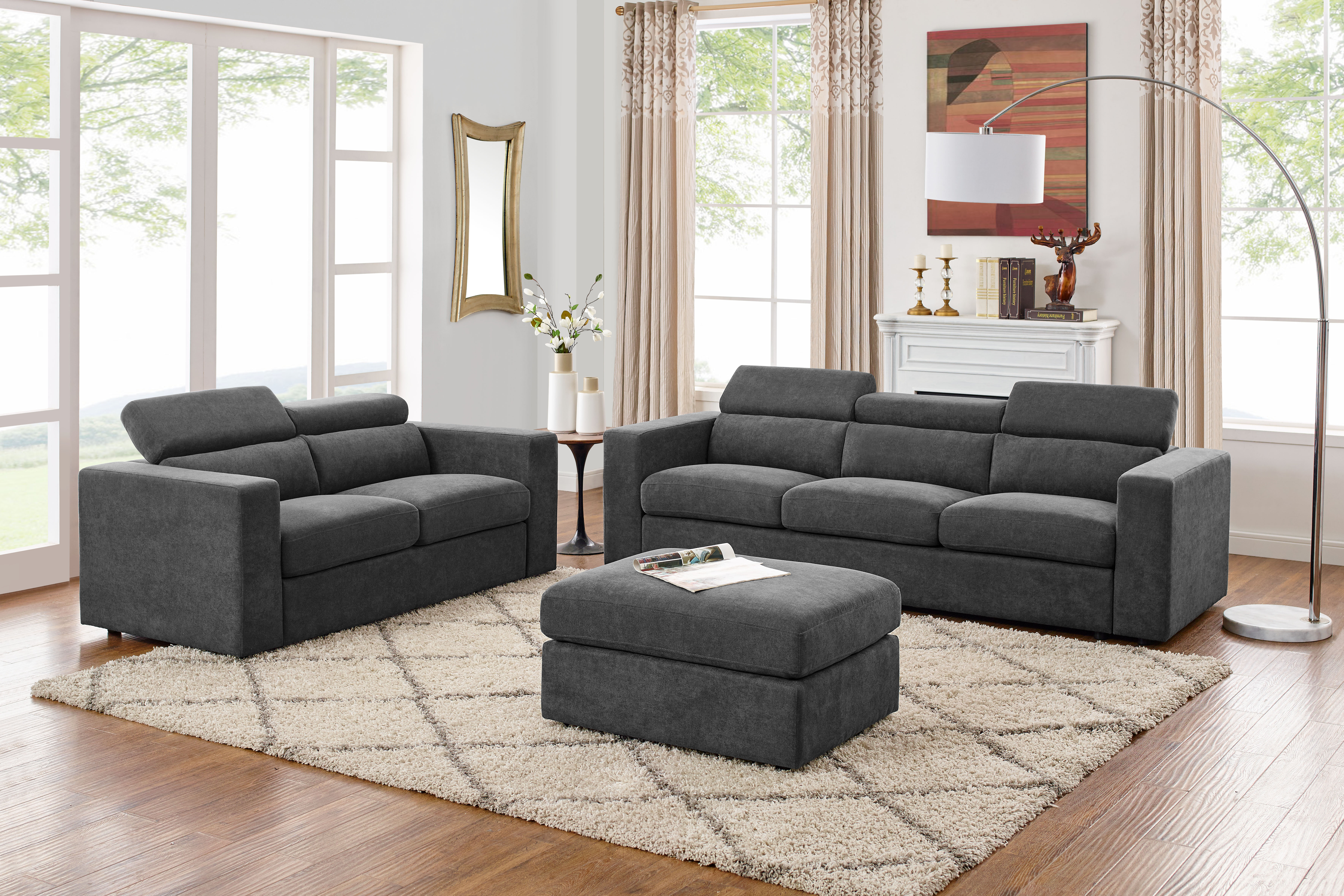 Fowlerville 5 Seater Sectional Sofa With Ottoman