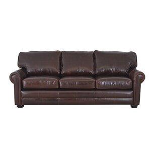 Fenway Studio Leather Sofa By Westland and Birch