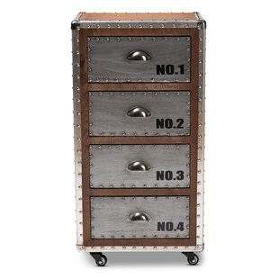 Rawson Wood and Metal 4 Drawer Accent Chest by Williston Forge