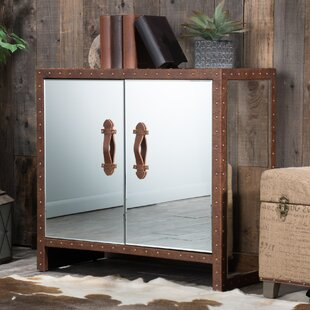 Evelyn Mirrored 2 Door Accent Cabinet by Home Loft Concepts