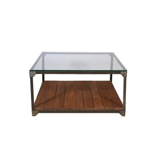 17 Stories Black Industrial Coffee Table