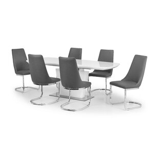 Lamberton Extendable Dining Set With 6 Chairs By Wade Logan