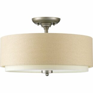 Alcott Hill Frieda 3-Light Semi Flush Mount