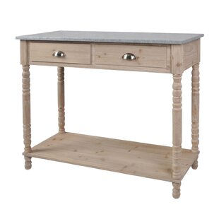 Audubon Village Pine Wood Console Table by Highland Dunes