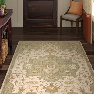 Topaz Moss/Beige Area Rug by World Menagerie