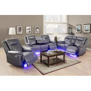 Analaura 3 Piece Faux Leather Reclining Living Room Set (Set of 3) by Orren Ellis