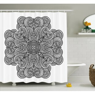 Joseph Mediaeval Rotary Heraldic Design With Squared Shape Single Shower Curtain