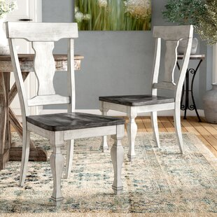 Nathalie Solid Wood Dining Chair (Set of 2) Lark Manor