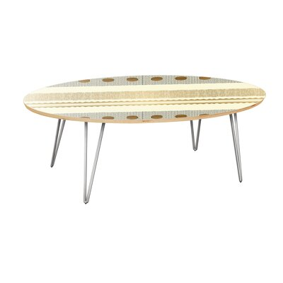 Bungalow Rose Hubler Coffee Table  Table Top Color: Natural, Table Base Color: Chrome
