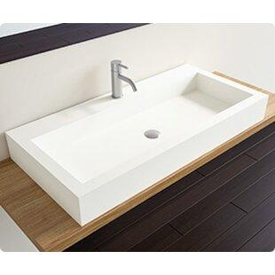Bargain Polymarble Rectangular Vessel Bathroom Sink By Badeloft