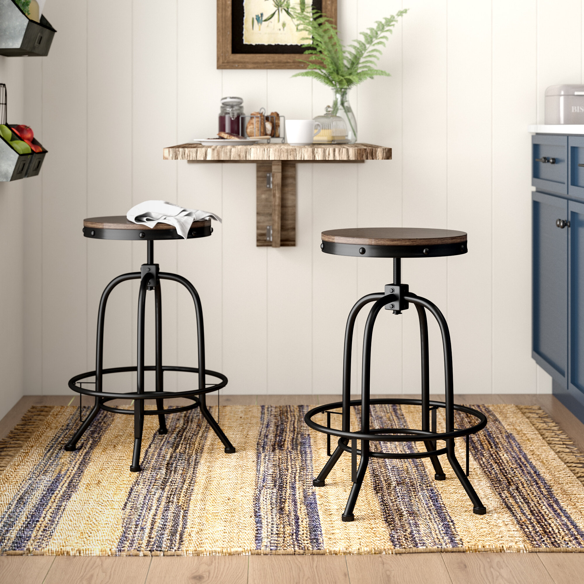 Groovy Garth Adjustable Height Swivel Bar Stool Pabps2019 Chair Design Images Pabps2019Com