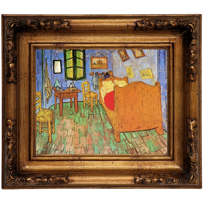\'The Bedroom\' by Vincent Van Gogh Framed Graphic Art Print on Canvas