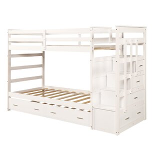 Eldora Twin Over Twin Bunk Bed with Trundle and Drawers by Harriet Bee