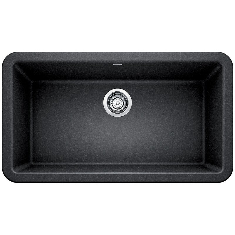 "Blanco Ikon 33"" L x 19"" W Farmhouse/Apron Kitchen Sink  Finish: Anthracite"