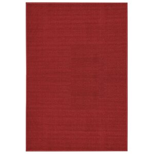 Burrillville Solid Single Plain Red Area Rug