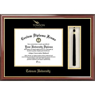 NCAA Towson Tigers Tassel Box and Diploma Frame By Campus Images