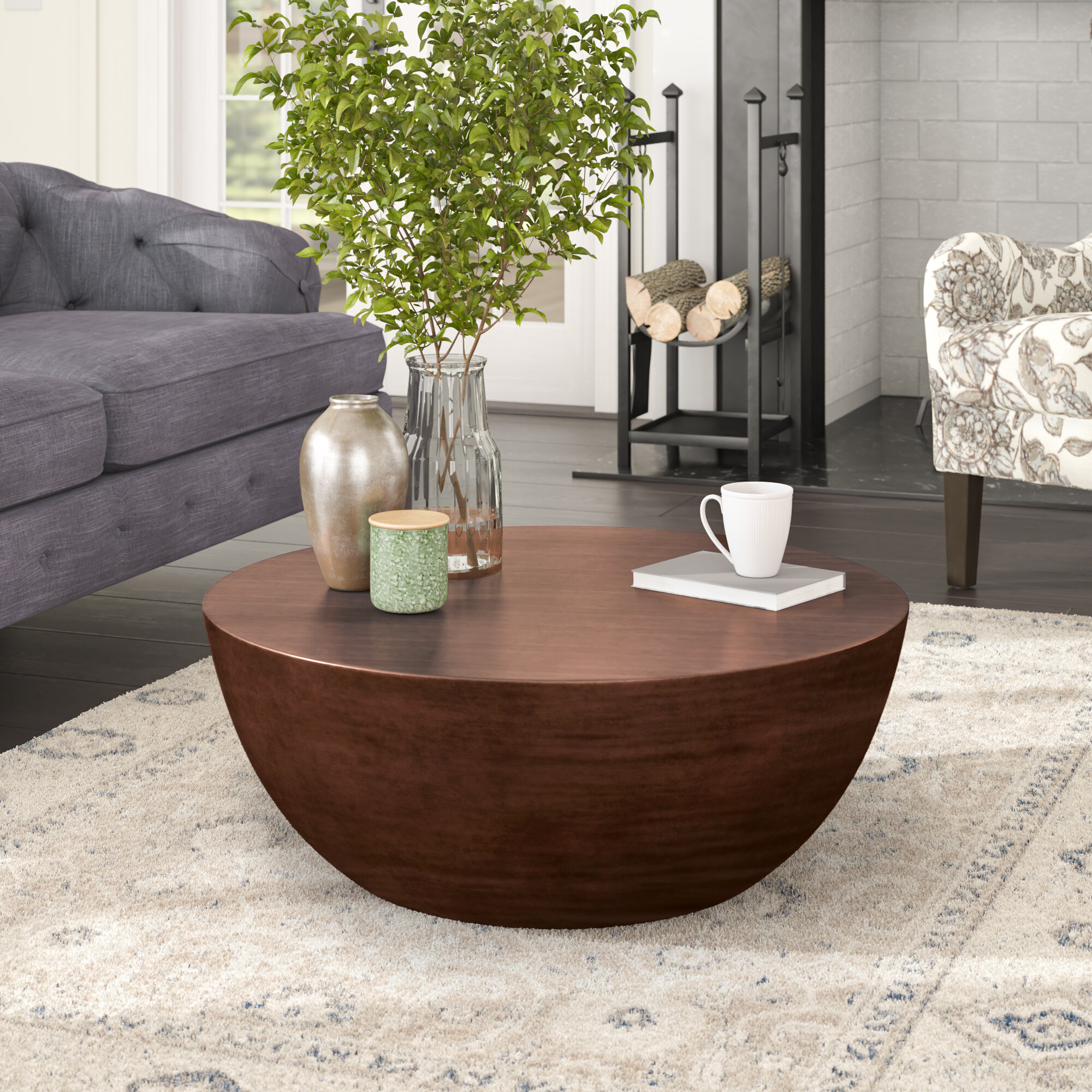 Low Round Coffee Tables You Ll Love In 2020 Wayfair