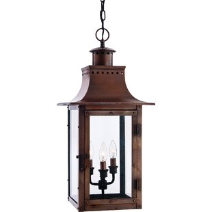 Best Deals Winfrey 3-Light Outdoor Hanging Lantern By Three Posts