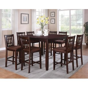 Charlton Home Watanabe Brown Counter Height Dining Table