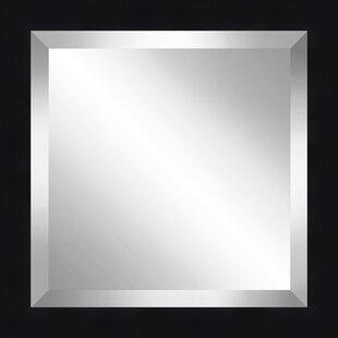 Orren Ellis Beveled Plate Black Accent Mirror