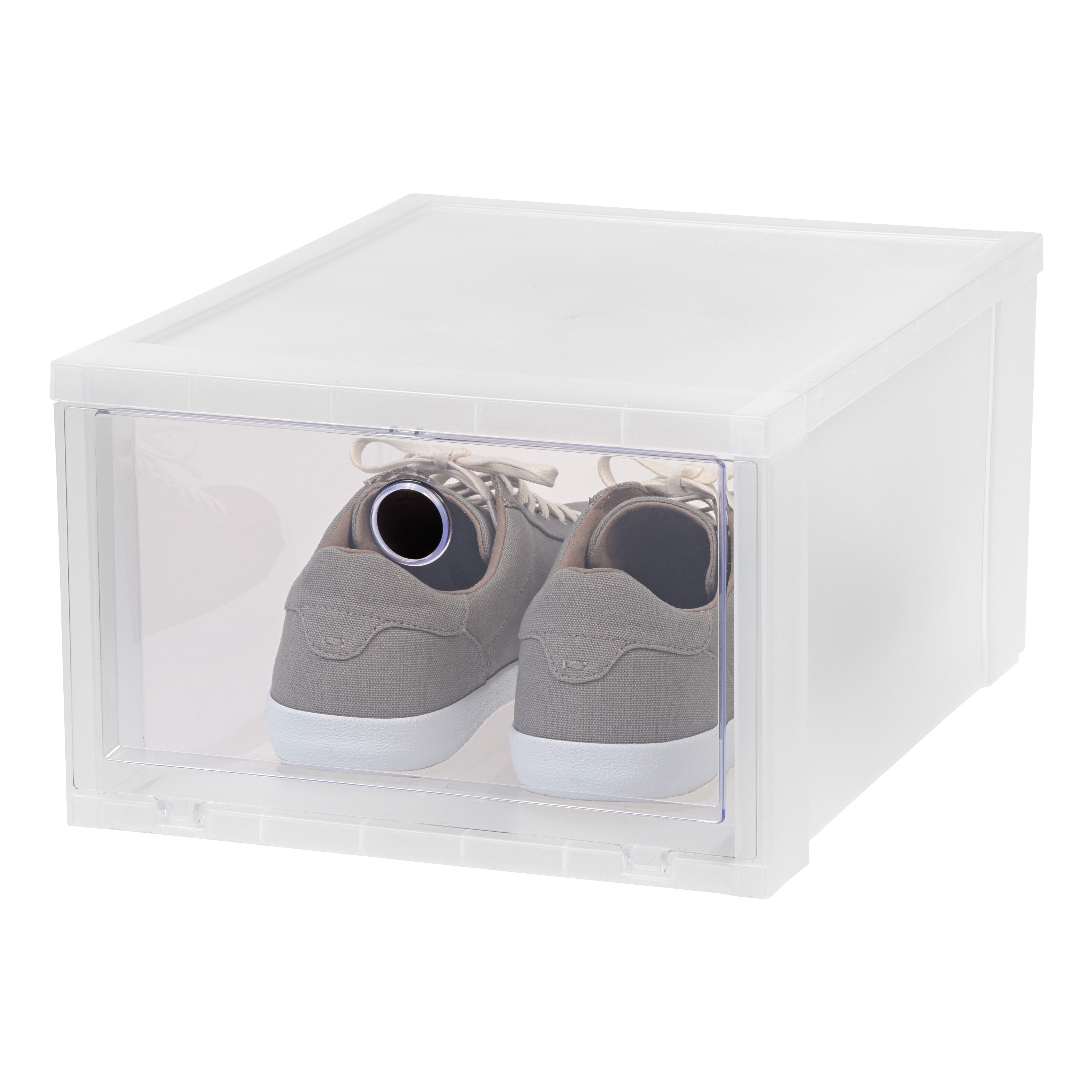 IRIS Wide Stackable Shoe Storage Box & Reviews | Wayfair
